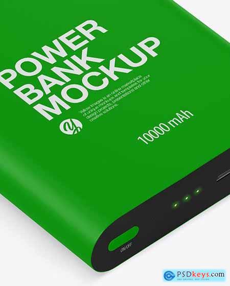 Matte Power Bank Mockup - Front View 51489