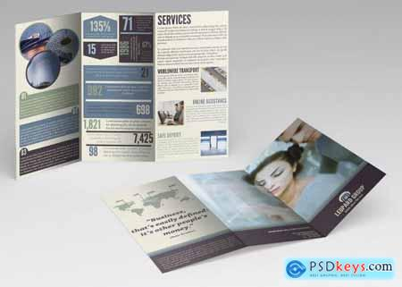 Infographic Business Trifold Brochure Template
