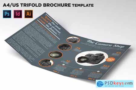 Shop Trifold Brochure Template