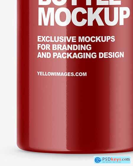 Glossy Bottle Mockup 51509