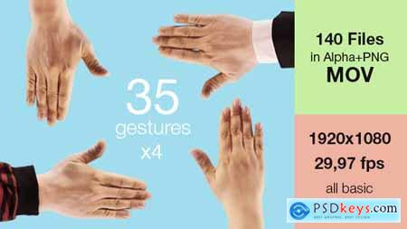 Videohive Hand Touch Gestures (Stock Footage) 11736571