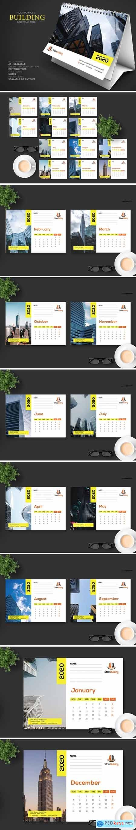 2020 Business Calendar Desk Pro