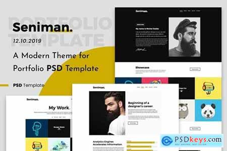 Seniman - Modern Portfolio PSD Template Demo 3