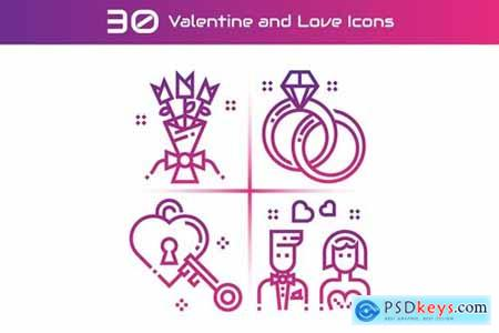 Valentine and Love Icons