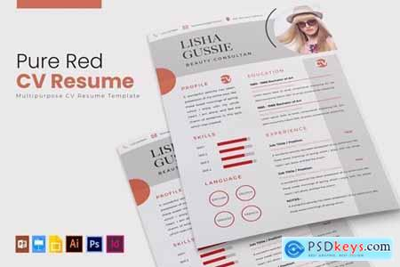 Pure Red - CV & Resume
