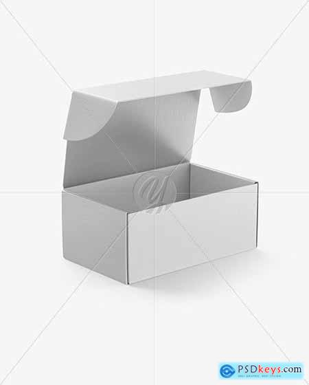 Opened Kraft Box Mockup 51521