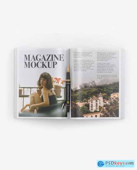 Matte Magazine Mockup 51469