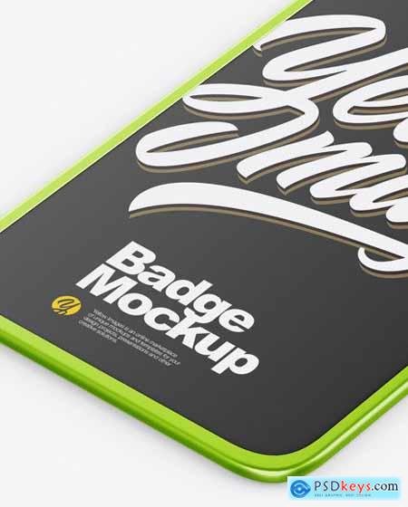 Metallic Badge Holder Mockup 51545