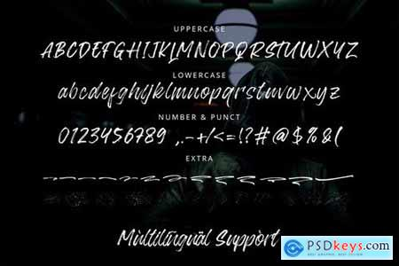 Blackway - Handbrush Font 4428866