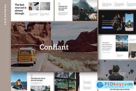 Confiant - Clean & Simple Powerpoint and Google Slides Templates