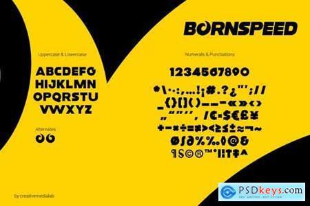 Bornspeed Font