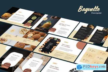 Baguette - Food Business Powerpoint and Google Slides Templates