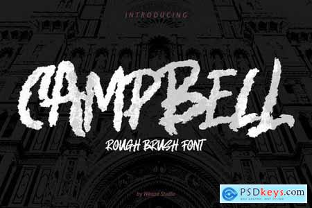 Campbell - Rough Brush Font
