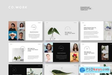 Cowork - Simple & Clean Powerpoint and Google Slides Templates