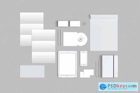 Brand Identity Stationery Mockup 06