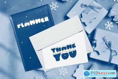 Frosty Joy Hand Drawn Display Font 4434565