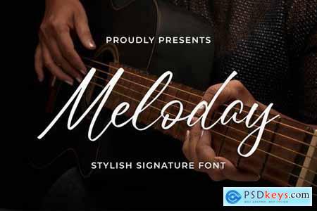 Meloday - Stylish Signature Font