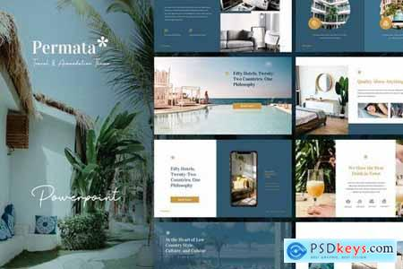 Permata - Trip & Hospitality Powerpoint and Google Slides Templates