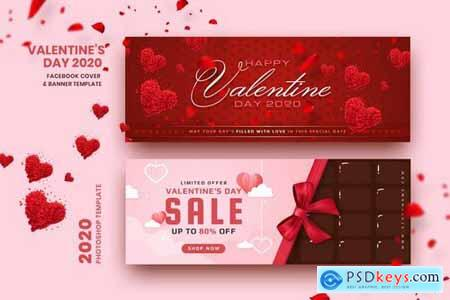 Valentine Facebook Cover & Banner Template 2