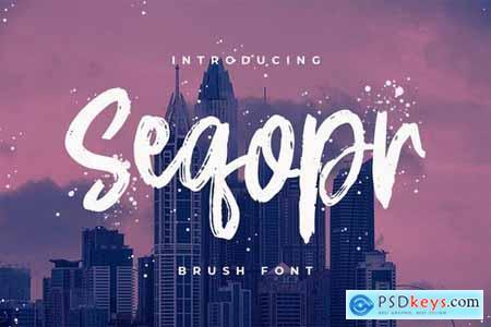 Seqopr - The Brush Font
