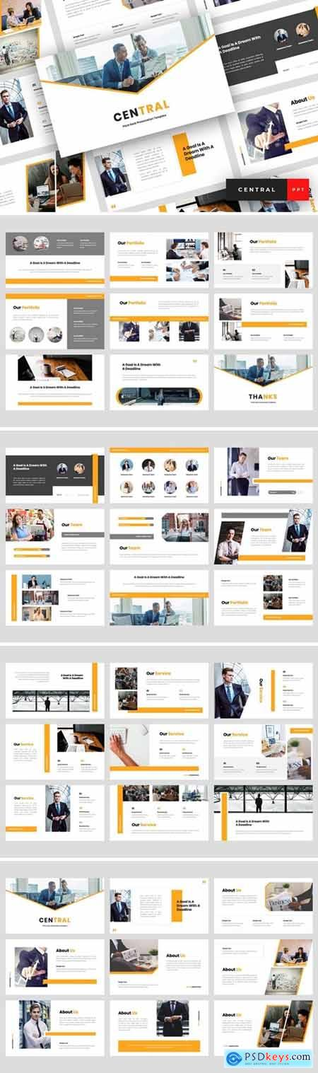 Central - Pitch Deck Powerpoint, Keynote and Google Slides Templates