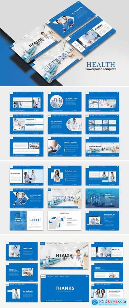 HEALTH Powerpoint, Keynote and Google Slides Templates