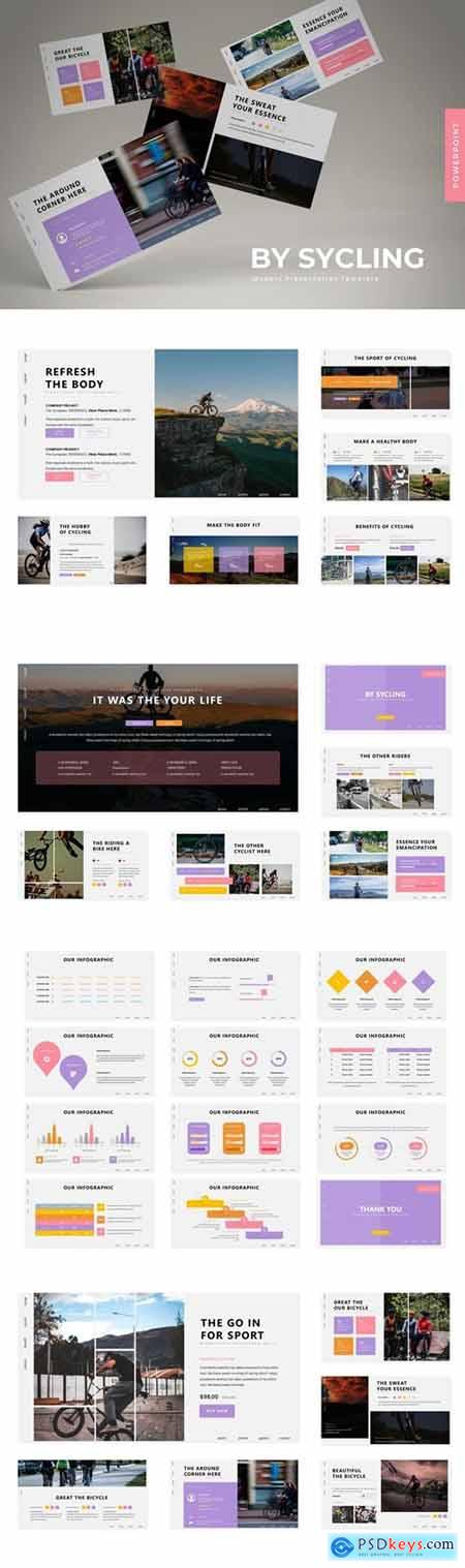 By Sycling Powerpoint, Keynote and Google Slides Templates