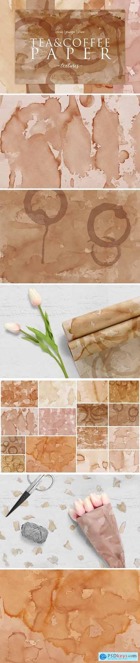 15 Coffee Stain Paper Textures