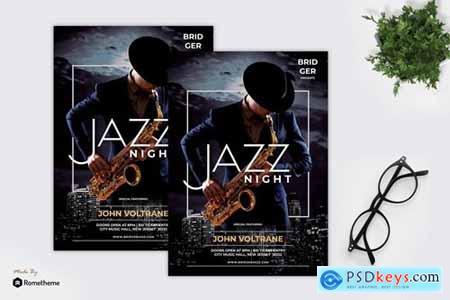 Saxo - Jazz Music Flyer RY
