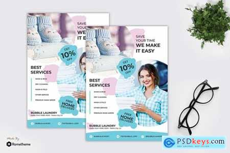 Bubble - Laundry Service Flyer RY
