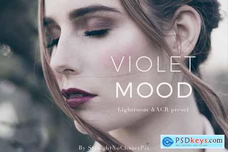 Violet Mood LR and ACR preset pack 4333477