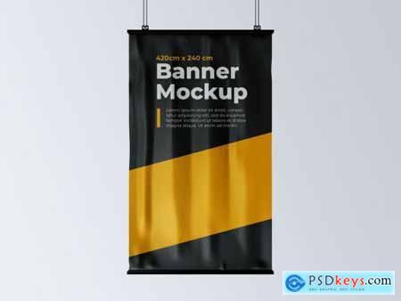 Vertical Hanging Banner Mockup 248180341