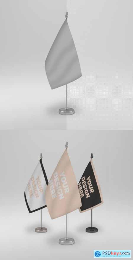Desk Flag Mockup 296821691