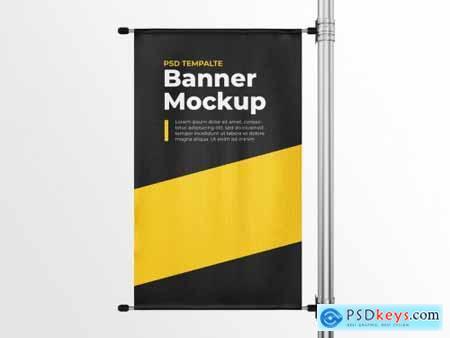 Vertical Pole Banner Mockup Template 259165977