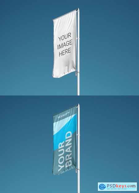 Vertical Banner Flag Mockup 310743565
