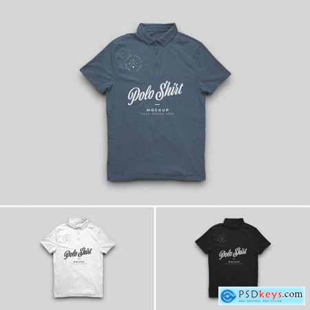 Polo Neck T Shirt Mockup 310926166