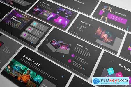 Dj Powerpoint Google Slides and Keynote Templates
