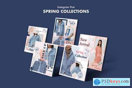 Creative Fashion Sale Instagram Posts PSD Template