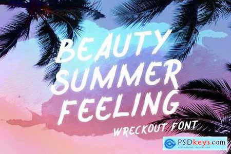 Wreckout - Decorative Brush Font 4431395
