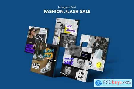 Creative Fashion Sale Instagram Posts PSD Template810