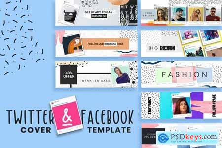 Facebook & Twitter Cover Templates 2