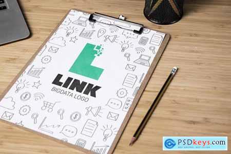 Letter L Big Data Logo