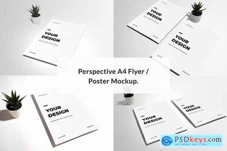 Perspective A4 Flyer Poster Mockup