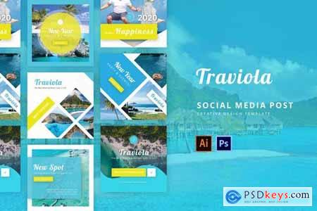 Traviola Social Media Instagram Feed Template