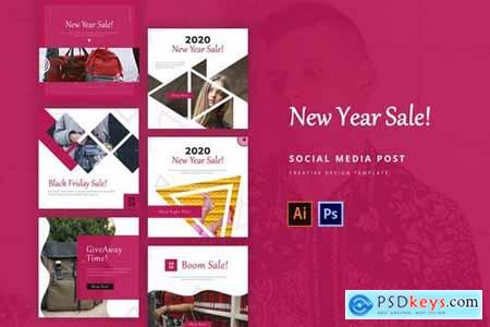 New Year Social Media Instagram Feed Template