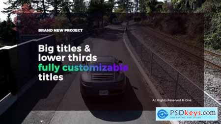 Videohive Big Titles & Lower Thirds 21583784