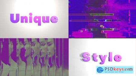 Videohive Fashion Glitch Opener 25389629