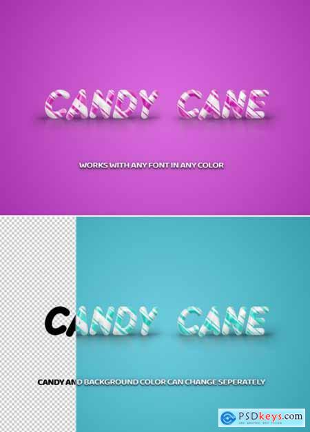 Candy cane Stripe Text Effect 313164289