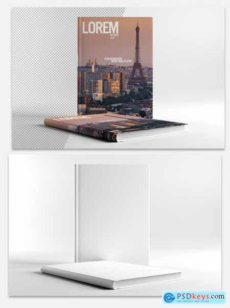 Horizontal Book Mockup 313138456