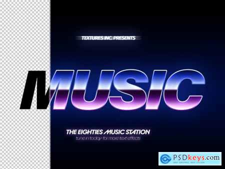 Mulitcolored 80s Chrome Text Effect 313164290